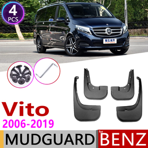 Image 1 - Paraspruzzi per Mercedes Benz Vito Viano V Classe 2006 ~ 2019 W639 639 W447 447 Parafango Guardia Mud Splash Flap parafanghi Accessori 2010