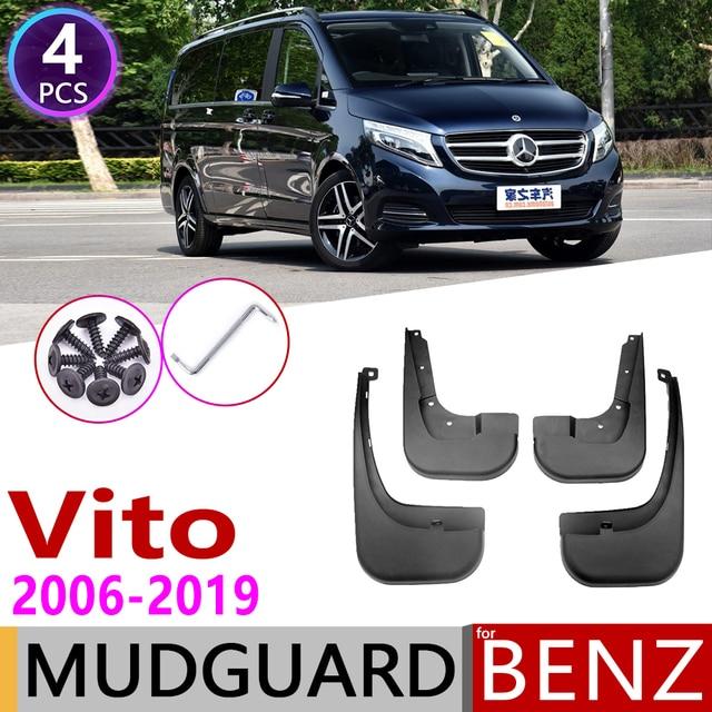 Paraspruzzi per Mercedes Benz Vito Viano V Classe 2006 ~ 2019 W639 639 W447 447 Parafango Guardia Mud Splash Flap parafanghi Accessori 2010