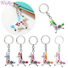 FENGRISE Key Chain Unicorn Gift Kids Party Favors Birthday Girl Wallet Pendant Licorne Supplies