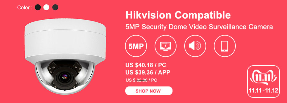 H1cd36817cda14ef6a00649d2cb8338dbY 5MP POE IP Camera with Microphone, Audio, IP Security Dome Camera outdoor IP66 Indoor Outdoor ONVIF Compatible Hikvision
