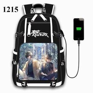 Image 5 - 애니메이션 분고 길 잃은 개 USB 포트 배낭 가방 학교 도서 학생 야외 어깨 책 가방 배낭 코스프레