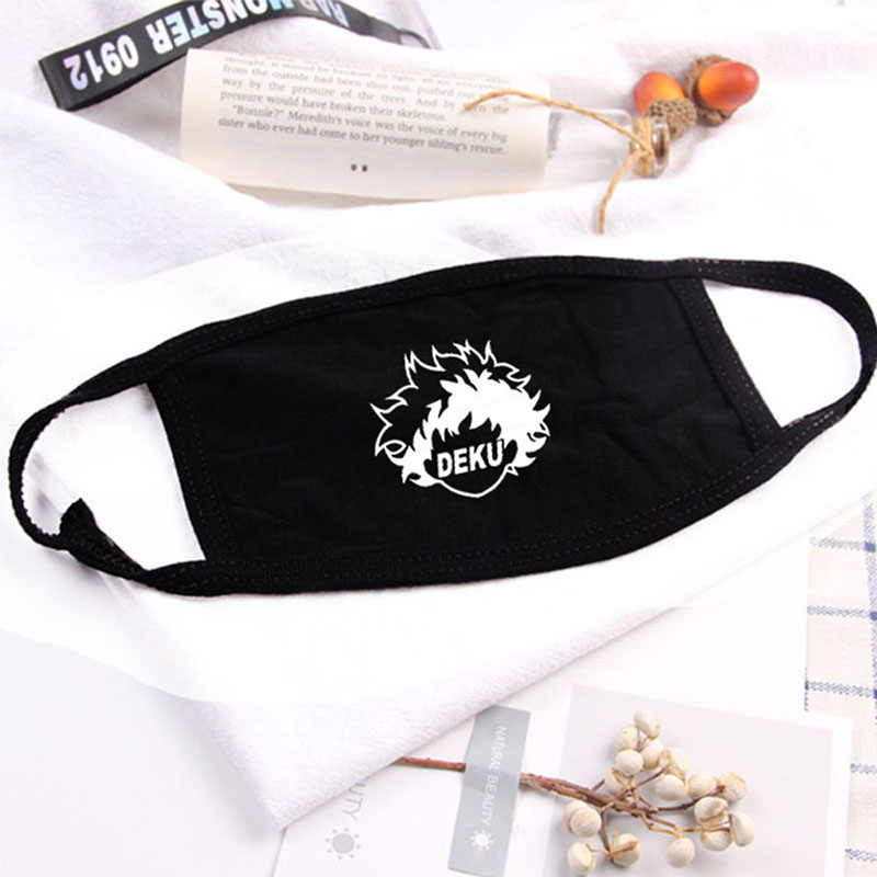 DEKU Mask My Hero Winter Warm Thickening Half Face Mouth Mask Cotton Cartoon Pattern Anti-Dust Anti-Bacterial Respirator 2020