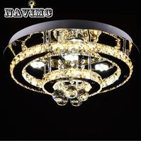 Ring Crystal LED Ceiling Lights Luminaria Lamp Fixtures Lustre Plafonnier Aisle Entrance Light for Home Lighting Lampara|Ceiling Lights| |  -