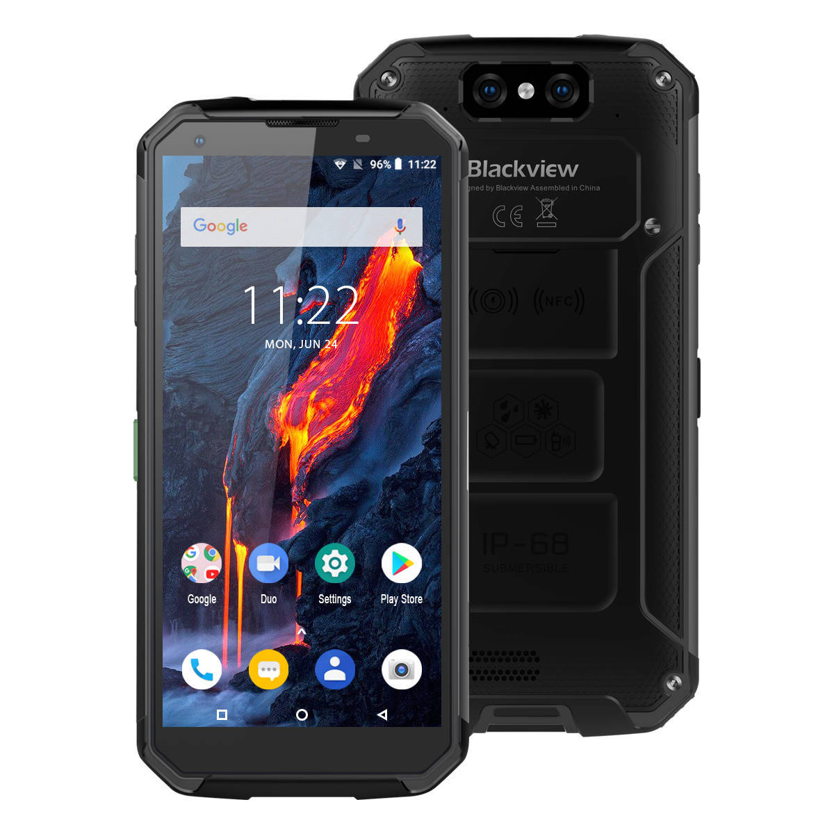 <font><b>Blackview</b></font> BV9500 Plus Helio P70 Octa Core Smartphone <font><b>10000mAh</b></font> IP68 Waterproof 5.7inch FHD 4GB + 64GB Android 9.0 Mobile phone image