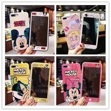 Cartoon color shell + color film supports Apple 66s 7 8 Plus ultra thin mobile phone shell iPhone 55s SE rear cover Coque X S Ma inonler зеленый iphone 55s