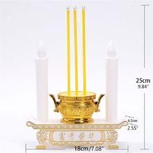 Led Electronic Candle Holder Incense Burner Plug-in Battery Indoor Home Hall