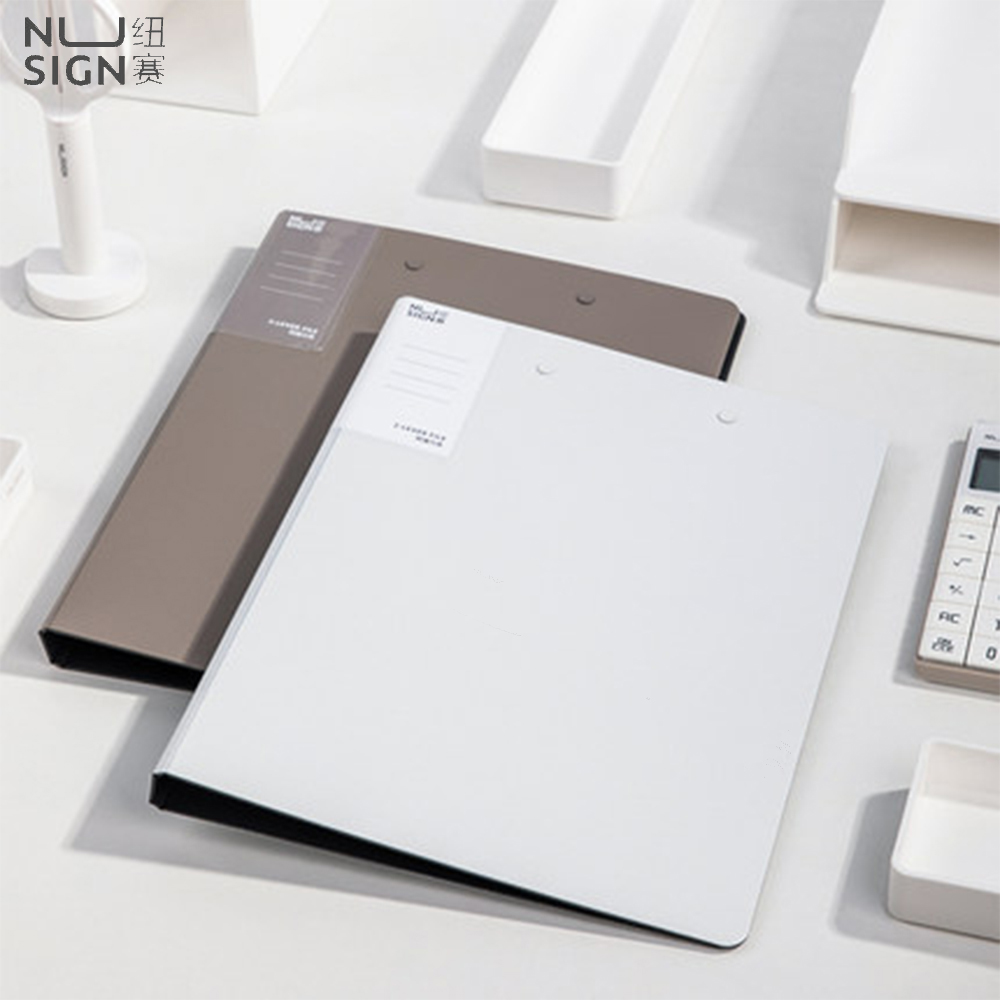 Nusign A4 Folder 2.0MM Thickness Office Files Folder PP Material Writing Board Pad Mat Office School Test Paper Storage Folder