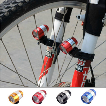 Bicycle Lights Waterproof Ultra Bright 6 LED Bicycle Bike Front Head Light Aluminium Alloy Mini Safety Cycling Flashlight Lights image