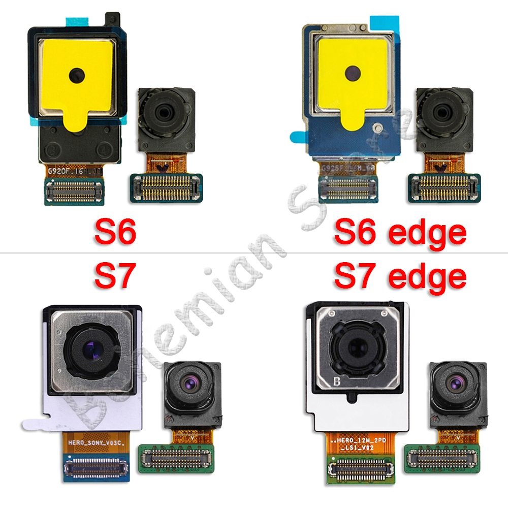 Front Rear Camera Flex For Samsung Galaxy S6 Edge G920F G925F S7 Edge G930F G935F Main Front Back Camera Ribbon Flex Cable