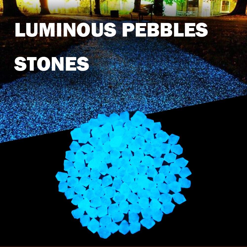 300 шт./пакет свечение галька светится в темноте садовые камни светящиеся камни для дорожек Путь Газон дворовый садовый декор световой камни