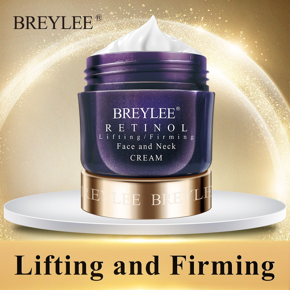 Breylee Retinol Firming Face Cream Lifting Anti-aging Remove Wrinkles Night Day Cream Moisturizing Facial Serum Neck Skin Care