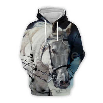 Tessffel Animal Horse art Unisex Colorful Casual Tracksuit Harajuku 3DfullPrint Zipper/Hoodies/Sweatshirt/Jacket/Mens Womens s-7 1