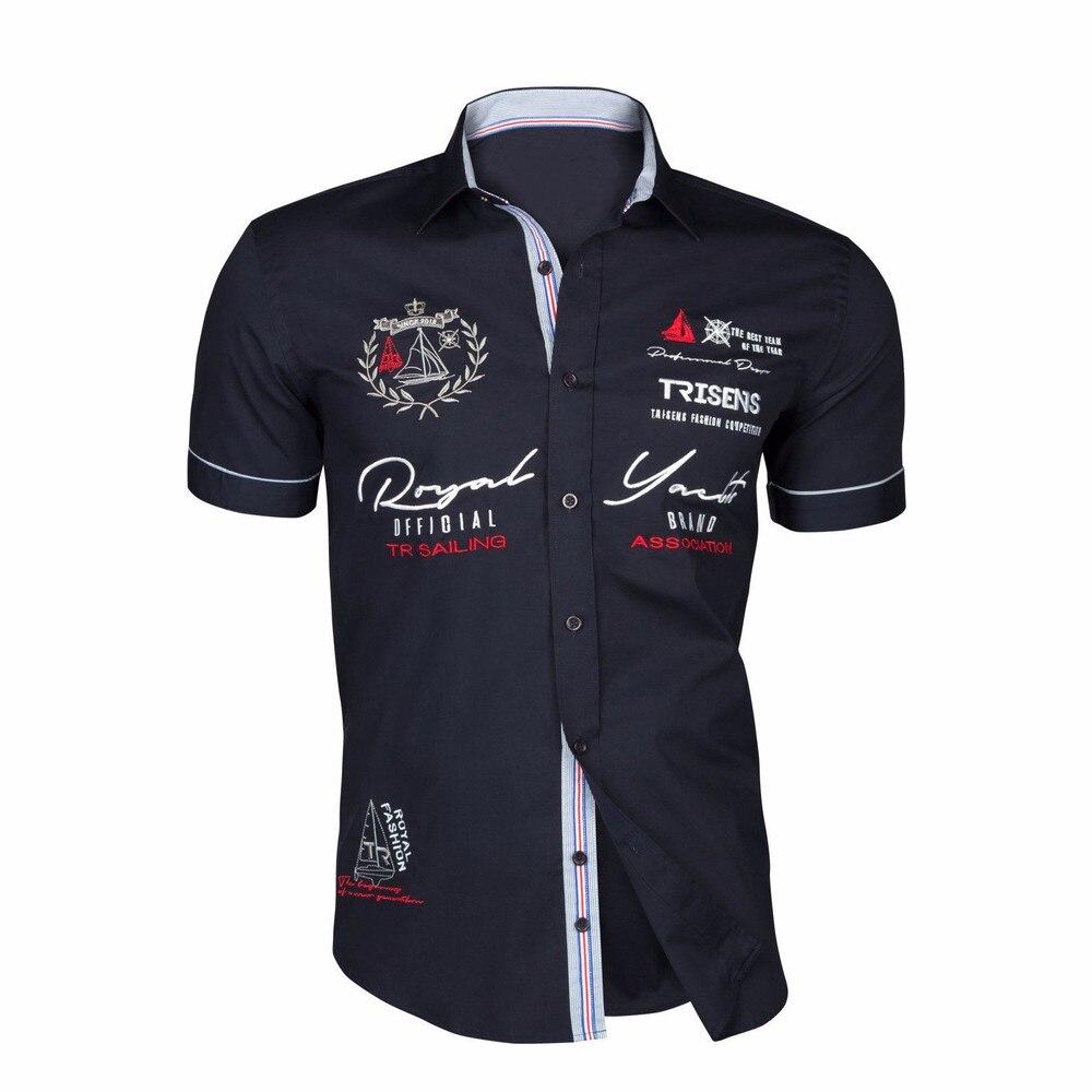 Zogaa 2020 Summer Men Casual Shirts Slim Fit Men's Casual Button Down Shirt Short Sleeve Formal Dress Shirts Men Male Clothing 3