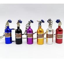 FLYJ Автомобиль Turbo NOS брелок бутылка с азотом металлический брелок для ключей контейнер для таблеток