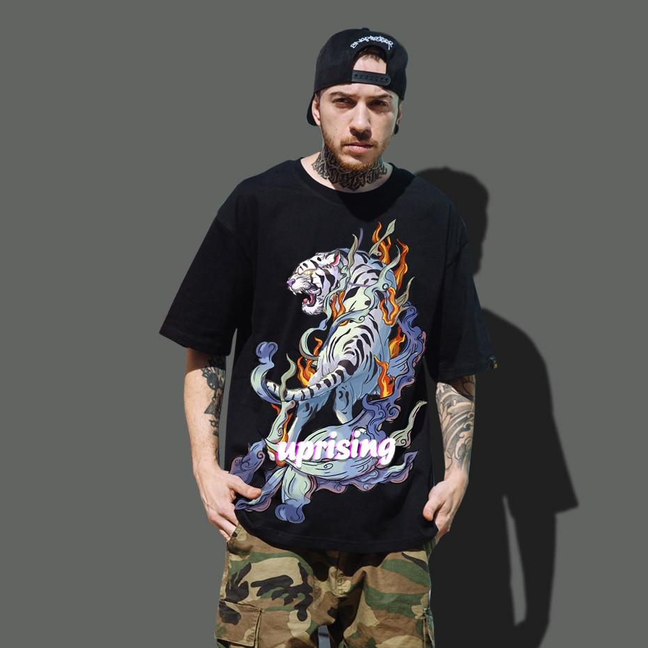 Brand 2020 New Wolf/tiger T Shirt Men Anime Tshirt China 3d Print T-shirt Hip Hop Tee Cool Mens Clothing New Summer Big Size Top