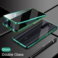 Doble cara de vidrio Funda magnética para Xiaomi Redmi Nota 9 Pro 9 8 7 Pro Redmi 8 9 9A K20 Mi 10T Lite 9T Nota 10 Pro imán cubierta