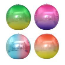 Cross-border new 22-inch gradient aluminum foil balloons 4 d is circular membrane
