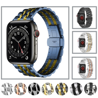 Edelstahl Strap Für Apple uhr Band 6 5 SE 40mm 44mm Metall Link Armband für iwatch serie 6 3 38mm 42mm Bands Armband