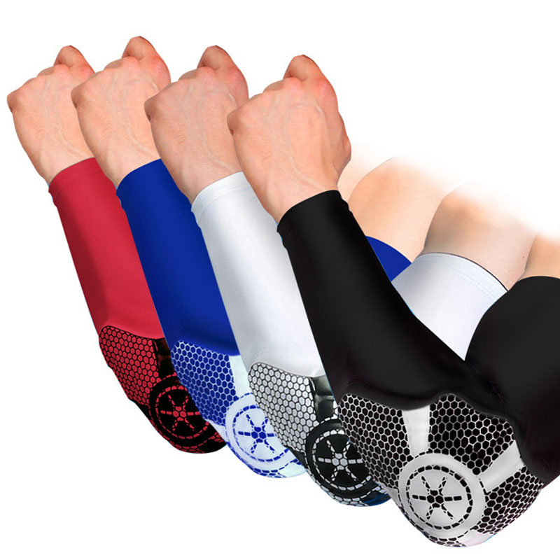 1Pcs Compression Sleeve Elbow Pads Crashproof Honeycomb Arm Pad Compression Sleeve Protector Gear