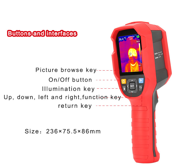 Mini Infrared Thermal Imaging Camera With Type-C USB Interface for Lithium Battery Charging 31
