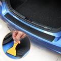 Наклейка на задний бампер для багажника автомобиля из углеродного волокна для Dacia duster logan sandero stepway lodgy mcv 2 dokker аксессуары для стайлинга автом...