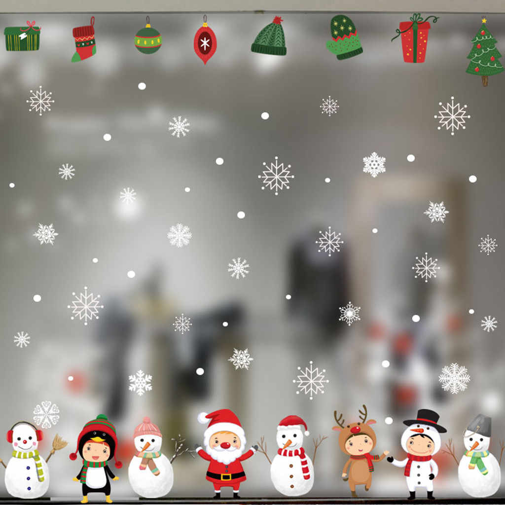 Snowflake Decor Christmas Wall Sticker Home DIY Decals For Door And Window