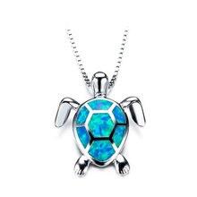 Ожерелье женское из цинкового сплава милое колье с голубыми