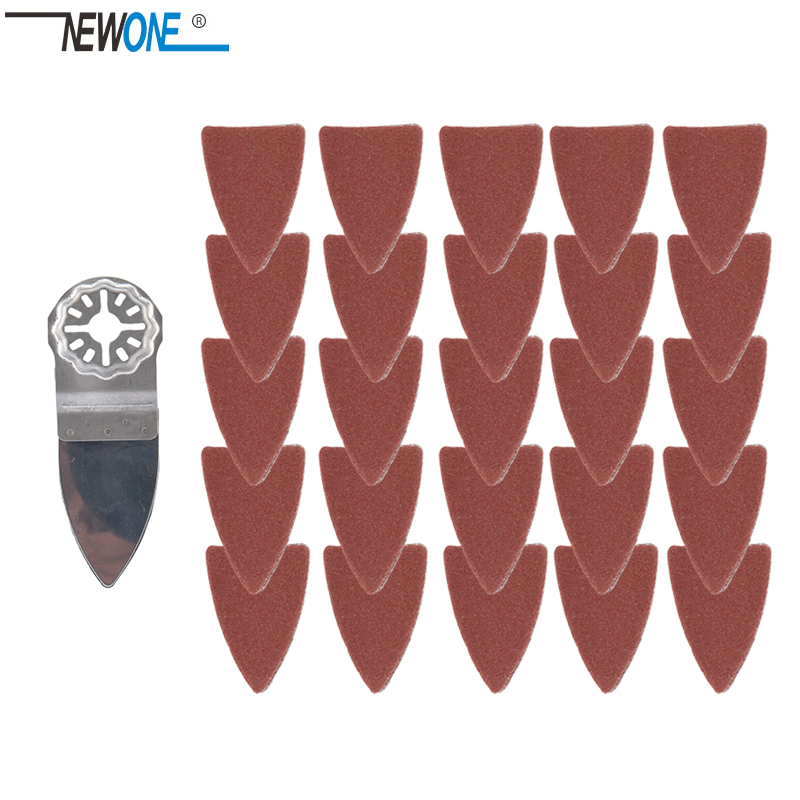 NEWONE Starlock Finger Polish Saw Blades And Sandpaper Sets Fit Power Oscillating Tools For Polish Wood Metal Ceramic More