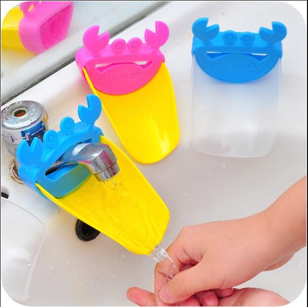 Permalink to Crab Bathroom Sink Faucet Chute Extender Faucet Accessories Children Kids Washing Hands Gutter Sink Guide Saving