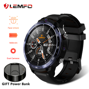 LEMFO LEM12 Smart Watch 4G Face ID 1.6 inch Full Screen OS Android 7.1 3G RAM 32G ROM LTE 4G Sim GPS WIFI Heart Rate Men Women(China)