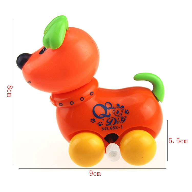 Creative Douyin Gift Winding Shake Head And WAG Tail Dog Wind-up Toy Stall Hot Selling Toy Strange New Gift