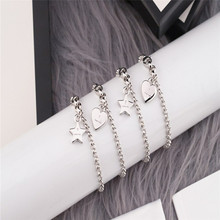 Valentine bracelet Love heart and star Double circle Three options S925 Sterling silver Jewelry Women Luxury brands fashion gift men and women wear gorgeous retro double letter opening bracelet adjustable s925 sterling silver jewelry luxury brands logo gift