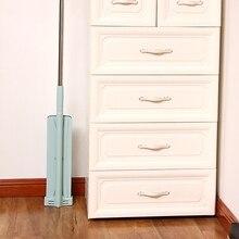 ABRA-Spin Flache Mop Free Hand Waschen Edelstahl Griff Spin Mopp Home Haus Büro Reinigung Werkzeug Pad Küche boden Sauber