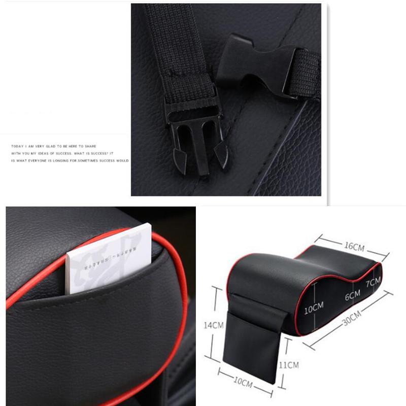 Hot New Car Leather Central <font><b>Armrest</b></font> Pad for <font><b>Peugeot</b></font> 307 <font><b>206</b></font> 308 407 207 3008/2017 2008 208 508 301 306 408 106 107 607 405 806 image