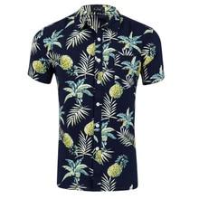 купить New Arrival High Quality Flower Shirts Mens Short Sleeve Shirt Summer Fashion Casual Plus Size Male Floral Shirts US size S-XXL дешево
