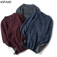 ICPANS 2019 Winter Autumn Pullovers Man Clothing Cotton Polyester Streetwear Mens Sweater Kintted