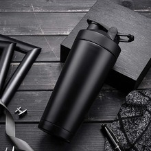 Stainless Steel Insulation Shake Cup Portable Bicycle Water Bottle Outdoor Sport Drink Jug Leak-proof Cup Fitness Sports Cup portable stainless steel sports bottle straight drink bicycle travel cold bicycle water bottle outdoor sports pot a1