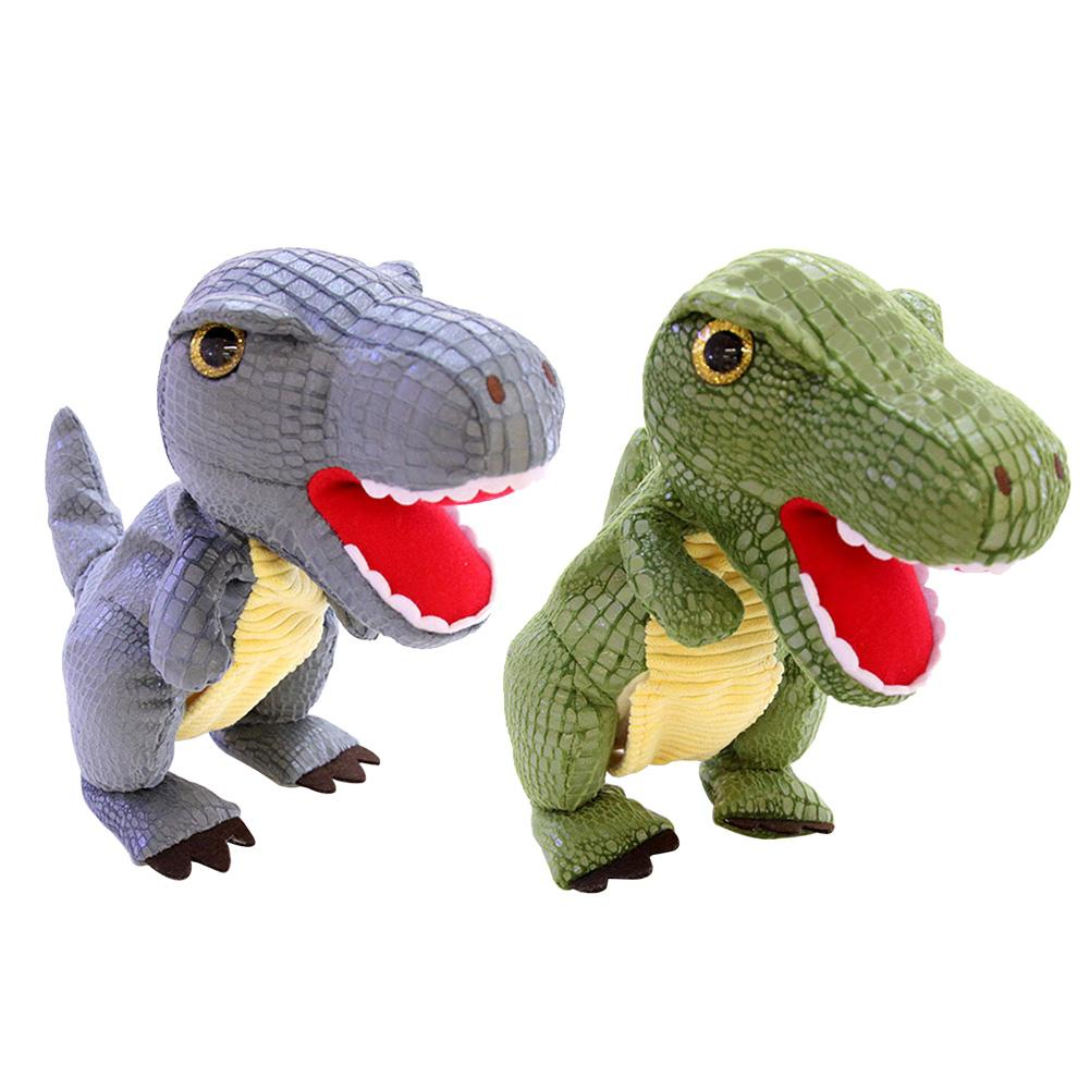 Electronic Dinosaur Toy Safe Realistic Dinosaur Model Walking Motion Simulation Roaring Stuffed Plush Doll Plastic Tyrannosaurs