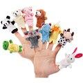 10PCS Weihnachten Geburtstag Geschenk Nette Cartoon Biologische Tier Finger Puppen Plüsch Spielzeug Kind Baby Favor Puppen Spielzeug für Kinder
