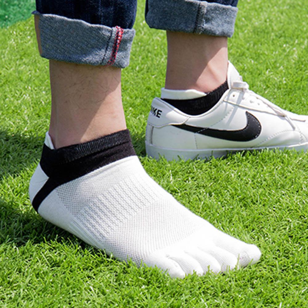 38-43 Men Outdoor Sports Bicycle Socks 1Pair Breathable 5 Finger Toe Slipper Sock Coolmax Pro Cycling Running Socks BC0337 (12)