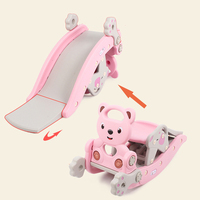 2in1 Kids Rocking Chair and Kids Slides Horse Toys Baby Ride on Toys Rocking Horse Big Toy for Children Ride on Horse Riding Toy