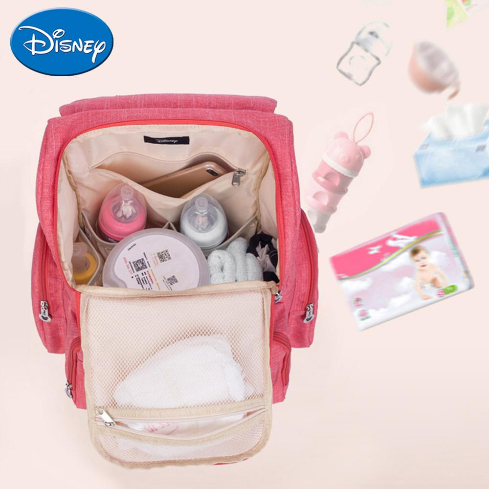 Image 3 - Disney Maternity Diaper Bag Cute Minnie Mickey Printed Mommy Backpacks Large Capacity Baby Stroller Nursing Nappy Storage Bag-in Diaper Bags from Mother & Kids