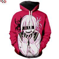 Anime menina sexy meu herói academia ahegao manga impresso t camisa 3d impressão hoodies moletom casual anime agasalho pullovers t31