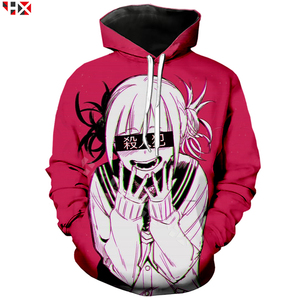 Image 1 - Dziewczyna Anime Sexy mój bohater Academia Ahegao Manga drukowane bluzy z kapturem z nadrukiem 3D bluza w stylu Casual Anime dres swetry T31