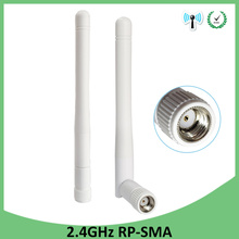 цена на 2pcs 2.4ghz Antenna 3dbi RP-SMA wifi antenna Aerials 2.4 Ghz antenne SMA Plug Connector wi fi Antena wi-fi antennas for router