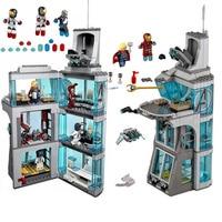 Marvel 511Pcs Star Wars Surprise Superhero Iron Man Attack Avengers Tower Model Building Blocks Compatible Legoinglys Starwars