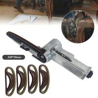 10*330mm Mini Finger Power Belt Air Compressor File Sander Sanding Tool Kit New Belts sanding polishing accessories
