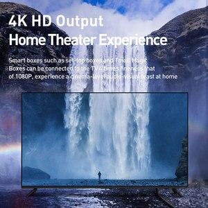 Image 4 - Baseus 4K HDMI כדי 4K HDMI כבל אותו מסך HD המרת כבל מתאם אודיו וידאו סיין פלט כבל עבור הקרנת HD טלוויזיה