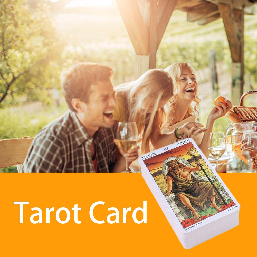 Annual Tarot Card Tarot Card Game Tarot Reading Destiny Personal Use Board Game 78 Card Deck And Guide