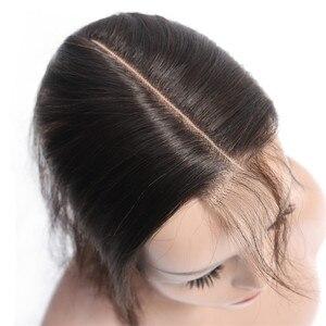 Image 4 - Bling Hair pelo humano brasileño ondulado con cierre para bebé, pelo Remy 2x6, encaje suizo, Color medio, 8 22 pulgadas